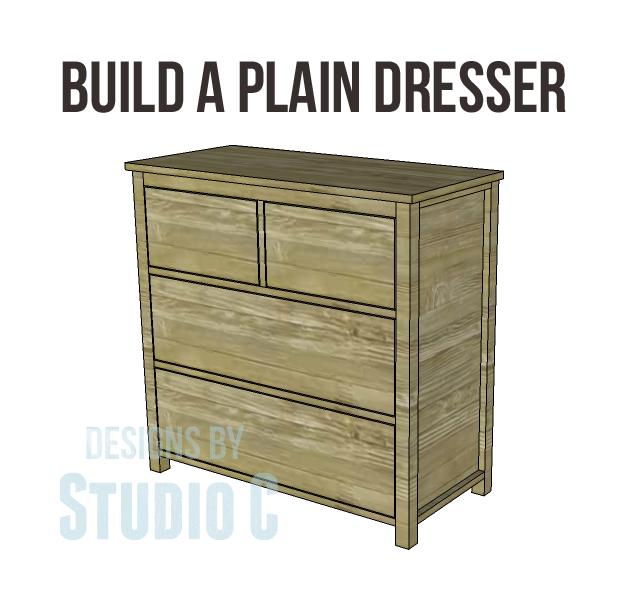 free DIY woodworking plans to build a plain dresser_Copy