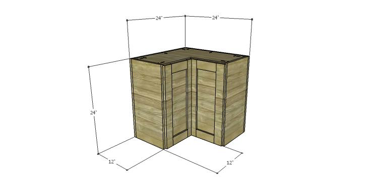 Corner Kitchen Cabinet Plans-Upper Corner Cabinet